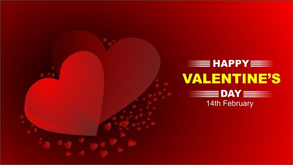 valentine's day red free background