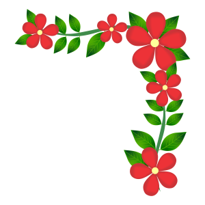 flower corner border hd design