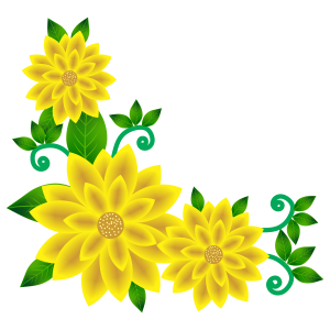 sun flower corner design hd